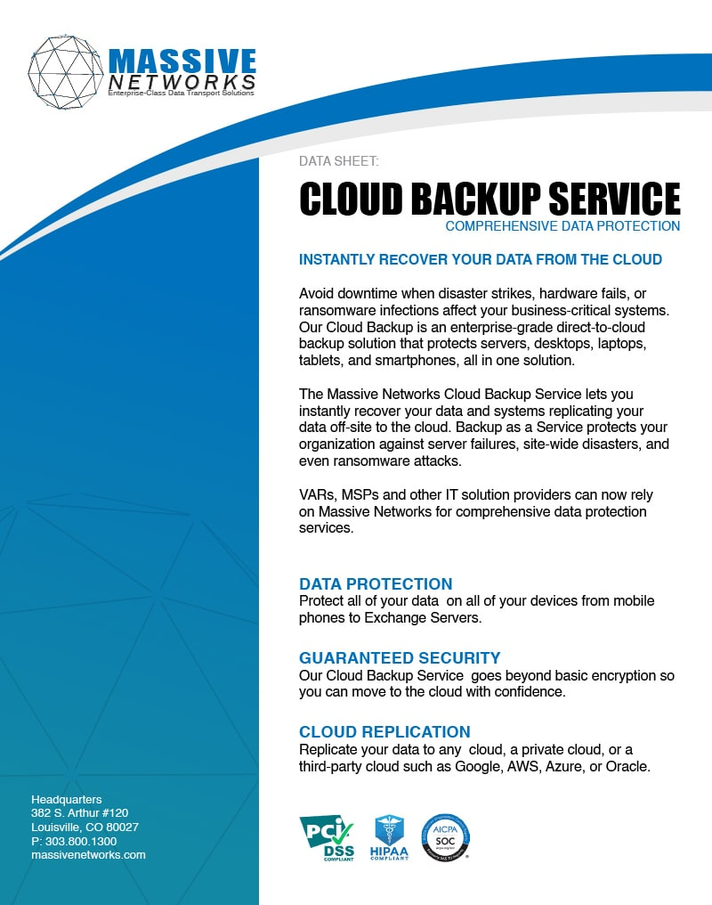 Cloud Backup Connect