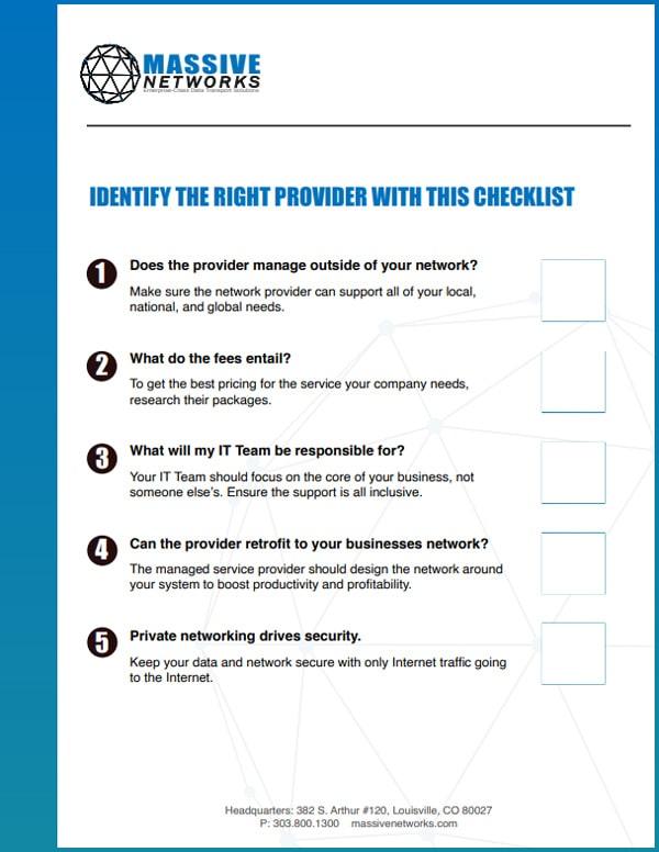 Managed Services Checklist 1